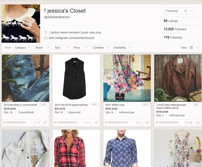 AUGUST 2014 POSHMARK CLOSET OF THE MONTH – A closet to swish and swoon over!!