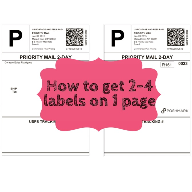 HOW TO GET 2-4 SHIPPING LABELS ON TO ONE SHEET
