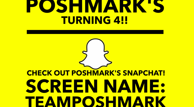 I am taking over Poshmark's SNAPCHAT!!