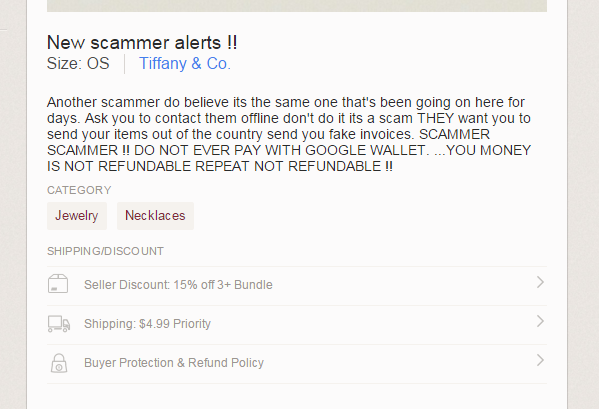 Scammers and offline transactions on poshmark