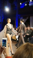 Black Sheer Hexagon Willfredo Gerardo NYFW 2016 2