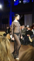 Black Sheer Hexagon Willfredo Gerardo NYFW 2016