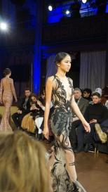 Sheer Nude and Black Applique Gown Willfredo Gerardo NYFW 2016 2