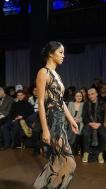 Sheer Nude and Black Applique Gown Willfredo Gerardo NYFW 2016