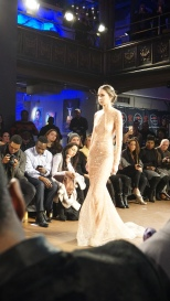 Sheer Peach BACKLESS Sparkle Willfredo Gerardo NYFW 2016 2