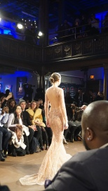 Sheer Peach BACKLESS Sparkle Willfredo Gerardo NYFW 2016