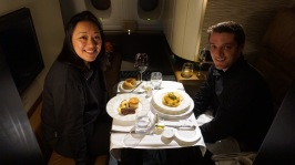 First Class Etihad Flight to Abu Dhabi